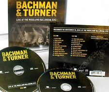 Live at the Roseland Ballroom, NYC , Bachman & Turner 2 CD NEW! CONCERT ,ROCK
