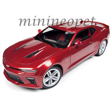 AUTOWORLD AW230 2016 16 CHEVROLET CAMARO SS 1/18 DIECAST MODEL CAR GARNET RED