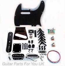 Telecaster Full Guitar hardware kit BLACK 6 saddle vintage single coil bridge