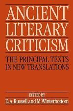 Ancient Literary Criticism: The Principal Texts in New Translations  Books-Accep