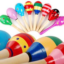Baby Rasseln Hölzerne Kugel Rattle Musikinstrument Spielzeug Zufällig Farben