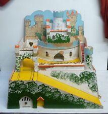 Vintage gee-bee toys pressed wood toy castle