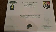 US Special forces parachute wings certificate Africa