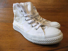 Converse CT All Star Mono White  Patterned Canvas Hi Top Trainers Size  2.5 / 35