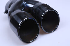 Vehicle car Stainless Steel TWIN Chrome Exhaust Muffler Tip ,black CALIBER 7.6cm