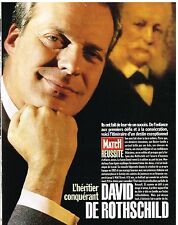 Coupure de presse Clipping 1994 (8 pages) David De Rotschild