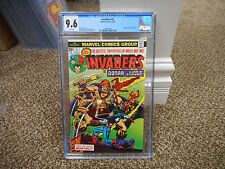 Invaders 2 cgc 9.6 1st appearance of Brain Drain Marvel 1975 Cap Sub MINT NM WHT