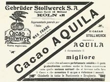 Y2164 Cacao Stollwerck marca Aquila - Pubblicità del 1903 - Old advertising