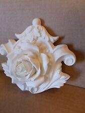 ORNATE ROSE MOULDING white resin