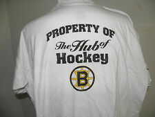 NHL BOSTON BRUINS THE HUB OF HOCKEY LOGO T-SHIRT SIZE 2XL NWOT