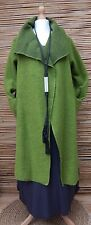 LAGENLOOK WOOL MIX BEAUTIFUL 2 LARGE POCKETS LONG COAT*LIME*Size L-XL-XXL