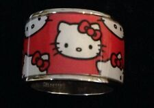 Kimora Lee Simmons for Hello Kitty Red Wide Band Graphic Ring Sz 9.5 Sanrio 3J