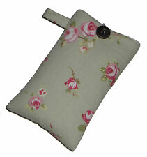 Shabby Chic ROSE Mobile Smart Phone Ipod Iphone Case Sock Sleeve Bag PADDED Gift