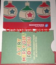 "SHOPPERS DRUG MART CANADA GIFT CARD ""XMAS ORNAMENTS"" NO VALUE NEW 2015 BILINGUAL"