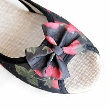 Shose Cotton With Wedge Heels and Front & Side Opening for Casual comfort Size 6