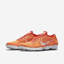 New Nike Flyknit Zoom Agility Orange Cross Training Shoes 698616 604 Size 12