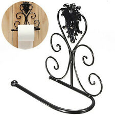 Vintage  Iron Toilet Paper Towel Roll Holder Bathroom Wall Mount Rack EF