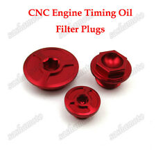 CNC Engine Timing Oil Filter Plugs Bolts For CRF150R CRF250R CRF450X CRF450R