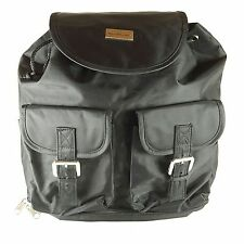 Dolly Brand Baby Baggage Diaper Bag Backpack Black Silver Nylon Drawstring
