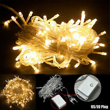 10M 100 LED Xmas Fairy String Light In/Outdoor Wedding Christmas Party Lamp Warm