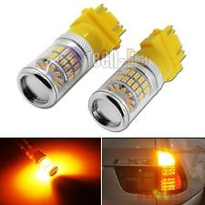 2x Amber 3157 3457 3757 48-SMD-3014 XBright LED Bulbs for Turn Signal Lamp Light