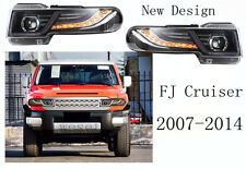 For Toyota FJ Cruiser 2007-2014 Headlight Halo Projector With Grille Front lamp