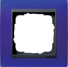 Gira Rahmen 1fach Event opak blau / anthrazit 021189
