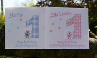 Handmade Personalised Birthday Card 1st  2nd 3rd 4th 5th 6th all ages