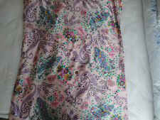 FLORAL NON SHEER SMOOTH PURE SILK  DRESS FABRIC