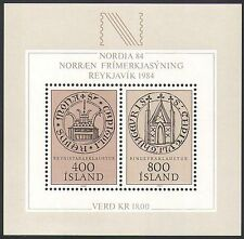 Iceland 1982 Nordia '84/Signet Seals/Monastery/Animation/StampEx 2v m/s (n34526)