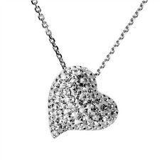 AUTHENTIC SWAN SIGNED SWAROVSKI ALANA HEART CLEAR PENDANT NECKLACE 1121055