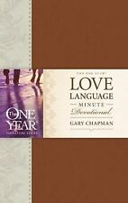 The One Year Love Language Minute Devotional by Gary Chapman (2014, Imitation...