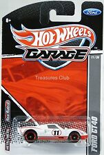 Hot Wheels Ford GT40 Ford Garage Series #T8284 New in Pack 2010 White 8+ 1:64