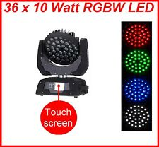 4 Stück 36x10 Watt 4in1 LED Zoom Moving Head Wash Scheinwerfer TOP