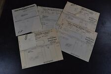 Lot of 8 1932 Union Special Machine Company Billhead Ephemera