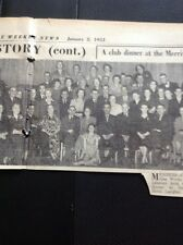 G2-1 ephemera 1953 Picture Oldbury Gas Works Social Club Dinner Langley