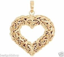 Technibond Byzantine Heart Pendant Enhancer 14K Yellow Gold Clad Silver HSN
