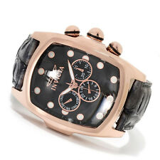 Invicta Mens Grand Lupah Multifunction 18k Rose Gold Plated Leather Watch