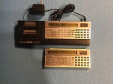 PRICE DROP-TWO RadioShack TRS-80 Pocket Computers w Printer & Cassette for Parts