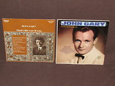 JOHN GARY 2 LP RECORD ALBUMS LOT COLLECTION Singing Sensation/The Way It Was