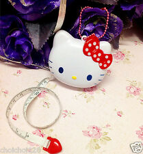 Hello Kitty RED Bow Head Shape Automatic Retractable Tape Measure Ruler KK88