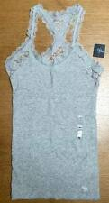 Auth Abercrombie Womens Lace Tank Top Coral Grey Small UK8