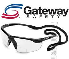 Gateway Conqueror 2.0 Clear Bifocal Reader Safety Glasses W Cord Z87+ CSA Z94.3