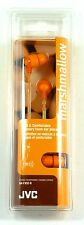 HAFX32D  JVC Marshmallow Earphones/Earbuds (Orange) for mp3/radio/tablet/Laptop