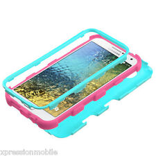 TEAL Shockproof Hybrid Rugged Protective Hard Case Cover For Samsung GALAXY E5