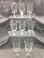 Set of 8 Fostoria #6016 Wilma Footed Ice Teas w/ #327 Navarre Etching {DD313}