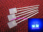 50pcs 2x5x7mm Blue Diffused Rectangle LED Rectangular Leds + Resistors for 12V