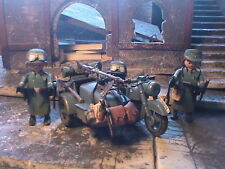PLAYMOBIL CUSTOM SUBOFICIALES WEHRMACHT+ SIDECAR(FRANCE-1944) REF-0002 BIS