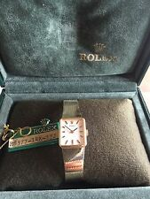 VINTAGE LADIES ROLEX 14k SOLID YELLOW GOLD WATCH W/ BOX, Tag, 30 GRAMS.