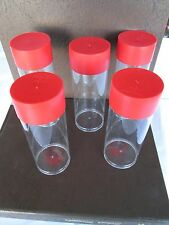 5 Storage Tubes for H Model Coin Capsule Holders